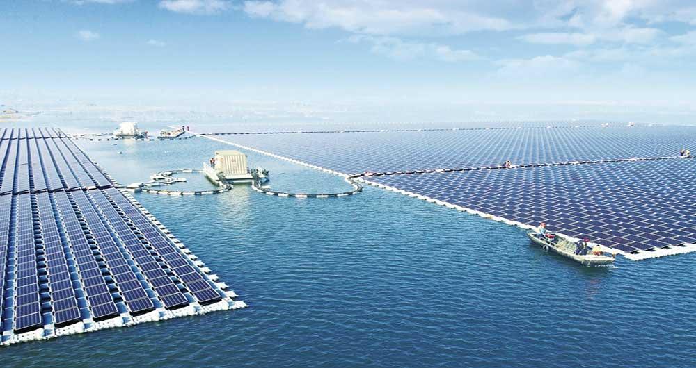 بزرگترین نیروگاه خورشیدی شناور جهان