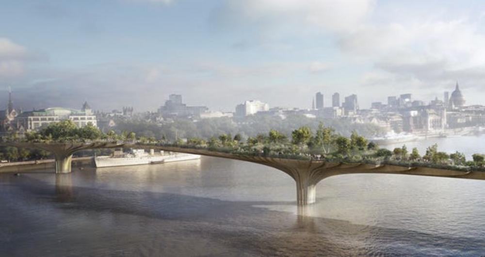 پروژه عظیم ساخت پل-باغ لندن لغو شد