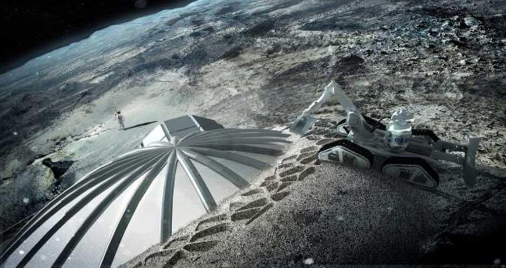 ساخت دهکده ای برای سکونت بشر در ماه تا سال ۲۰۲۰