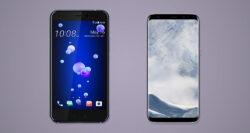 مقایسه تلفن همراه HTC U11 و +Galaxy S8/S8 سامسونگ