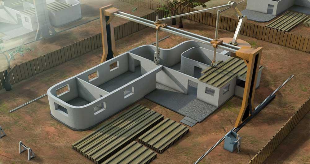 ساخت خانه با چاپگر سه بعدی