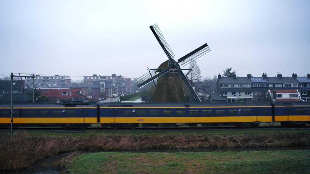 قطارهای هلندی با انرژی بادی