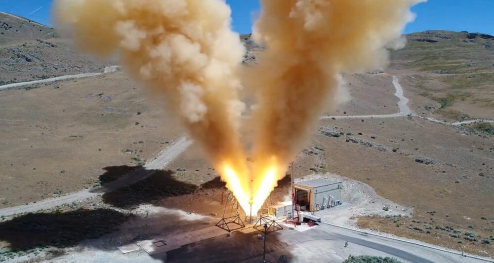 آزمون آتش لانچر فضاپیمای اوریون توسط شرکت Orbital ATK
