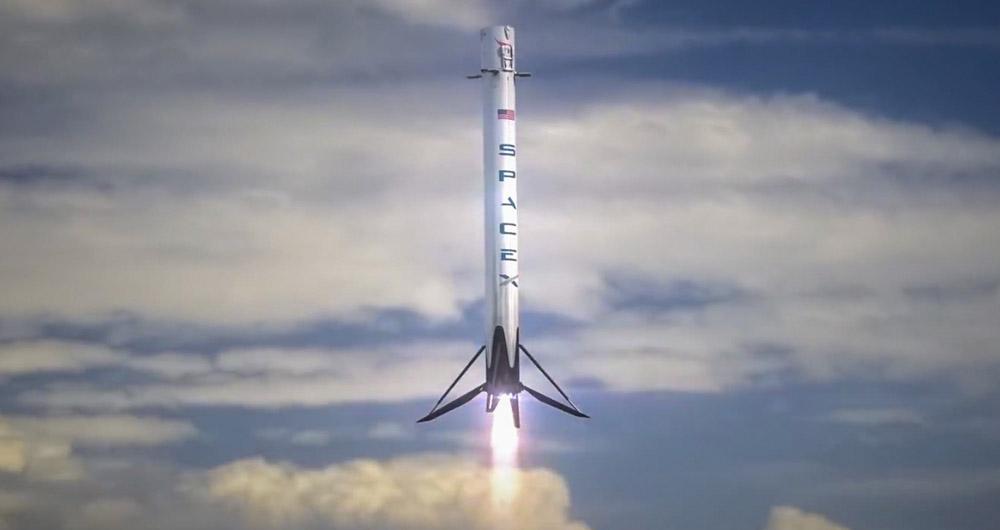 موشک فالکون ۹ با موفقیت به فضا پرتاب شد