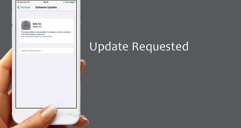 مشکل پیغام Update Requested در بهروزرسانی iOS