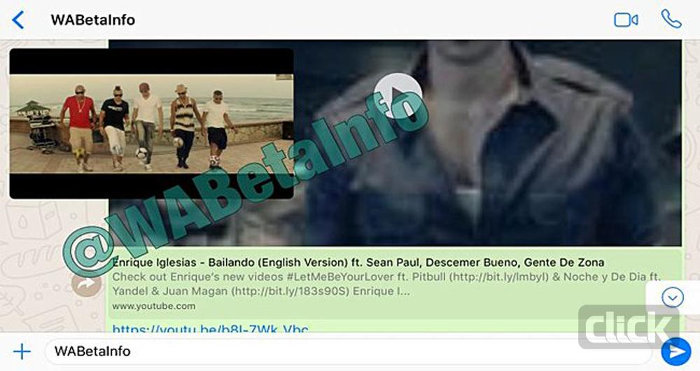 باز کردن مستقیم ویدئوهای یوتیوب در پیامرسان واتس اپ