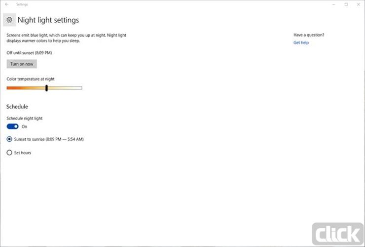 آموزش فیلتر کردن نور آبی صفحه نمایش در ویندوز ۱۰ و مک 1