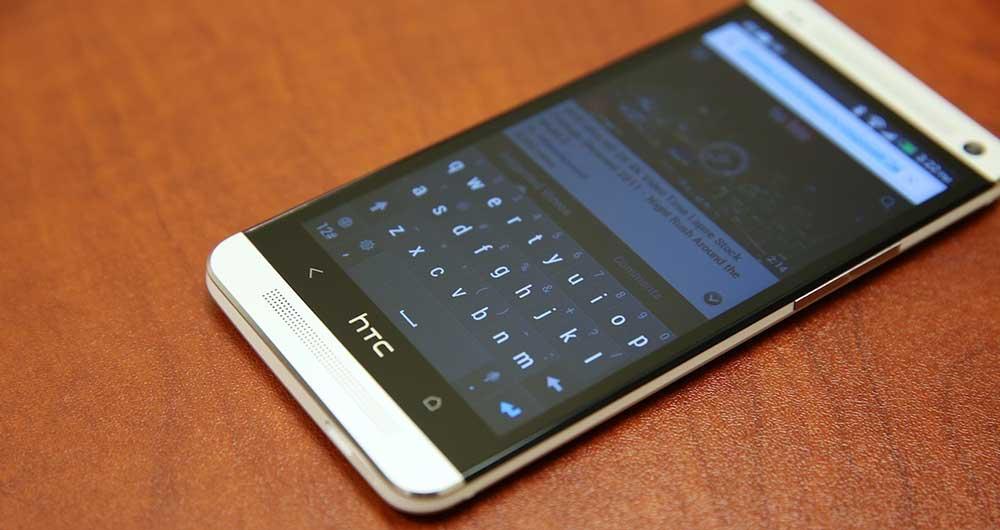 صفحه کلید پیش فرض گوشی های HTC