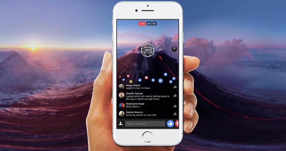 لایو 360 درجه فیس بوک بهتر میشود