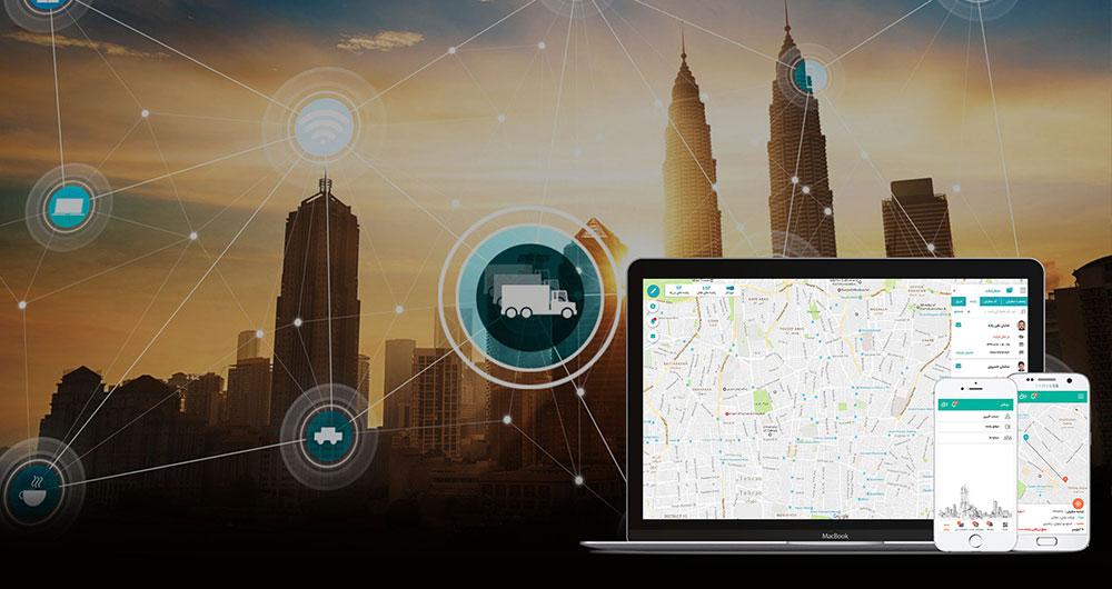 اپلیکیشن لوجیکو و مدیریت واحد های میدانی بر روی نقشه