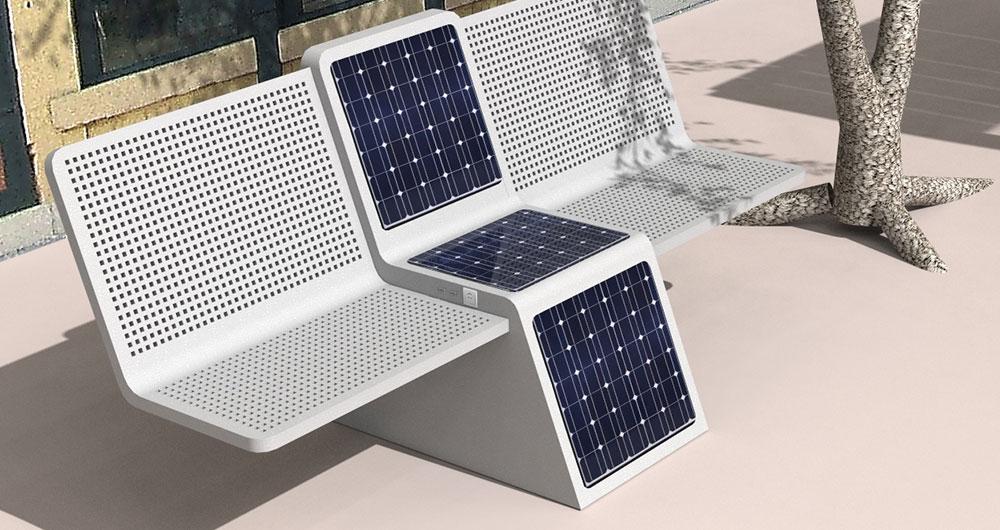 توسعه انرژی های نو از طریق نیمکت خورشیدی