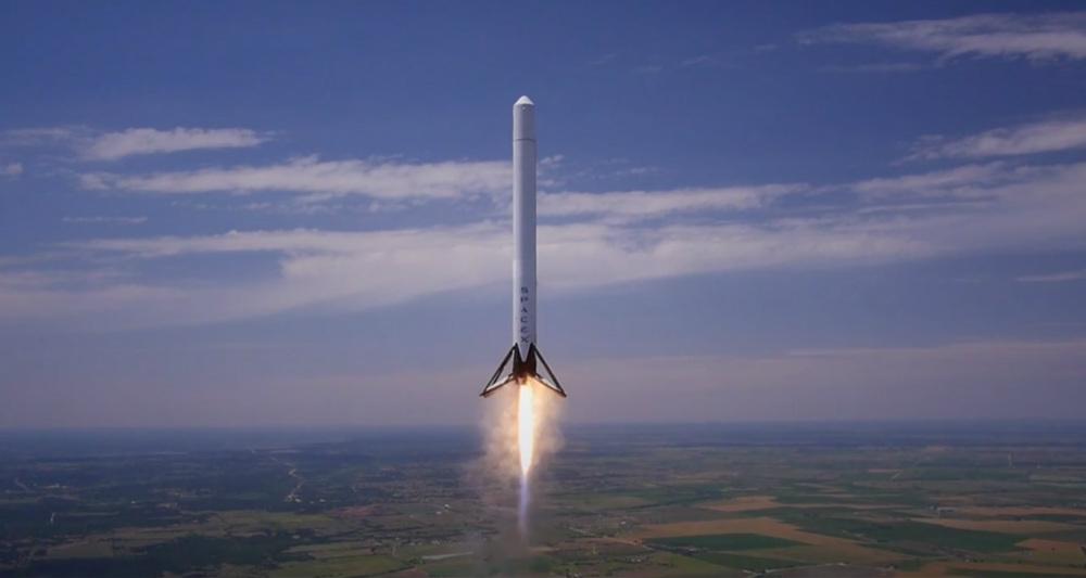 فرود ششمین موشک Falcon 9 روی سکوی زمینی