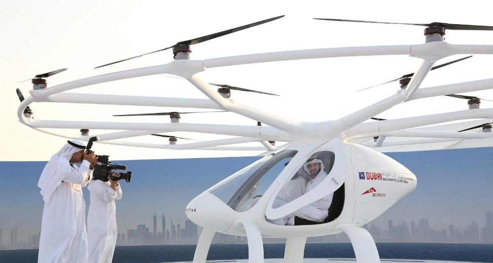 پهپادهای مسافربر در دبی آزمایش شد