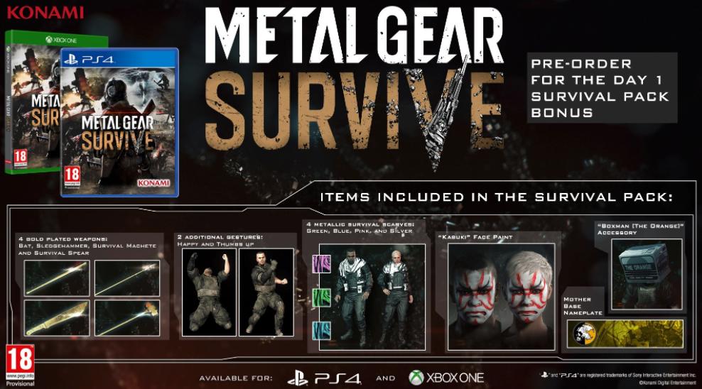 تاریخ انتشار بازی Metal Gear Survive