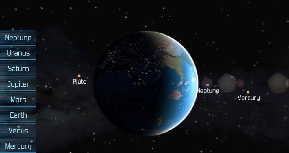 با پلتفرم Google Maps منظومه شمسی را رصد کنید!