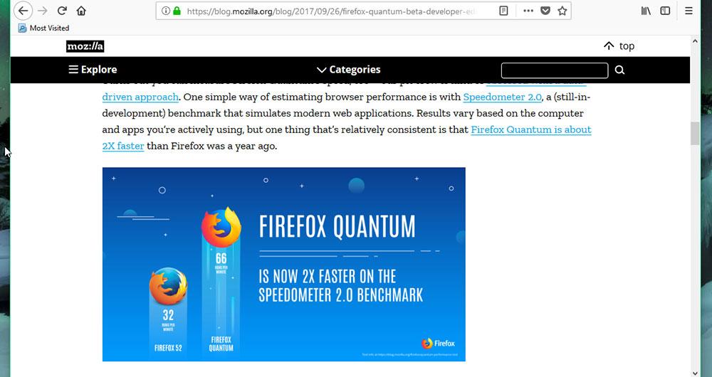 تب ها در فایرفاکس کوانتوم
