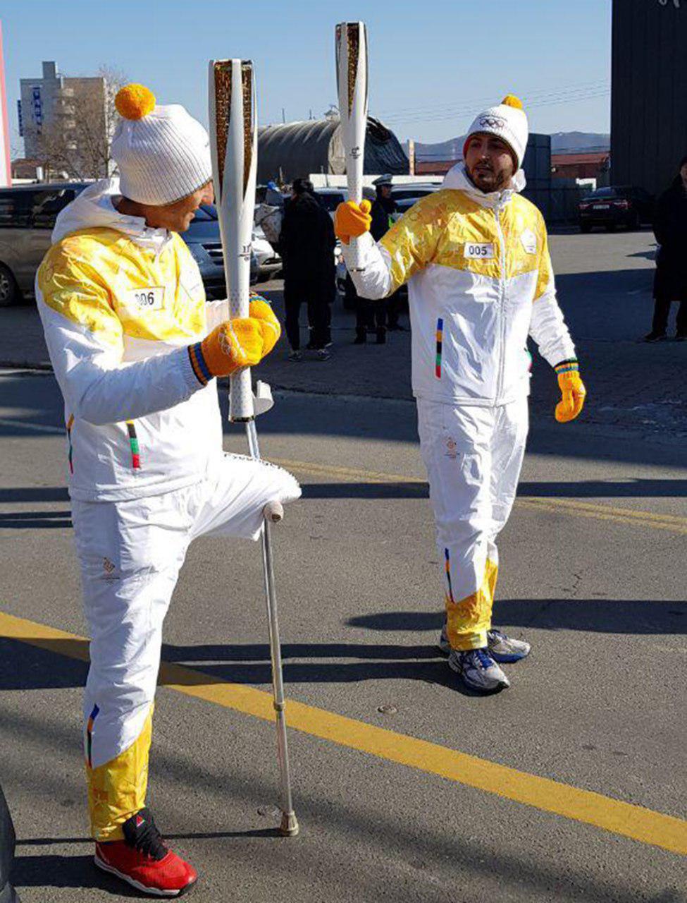 نمایندگان ایران مشعل المپیک زمستانی 2018 پیونگ چانگ را حمل کردند