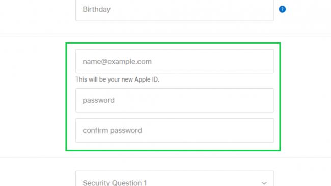 ساخت اپل آیدی از طریق سایت