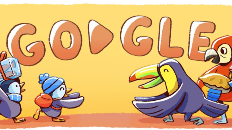 نقش پنگوئن ها در گوگل دودل برای تبریک سال 2018