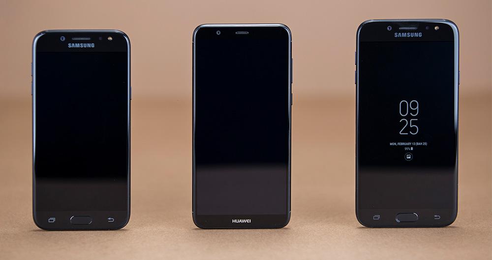 تماشا کنید: مقایسه 3 گوشی میان رده هواوی پی اسمارت، گلکسی J7 Pro و گلکسی J5 Pro