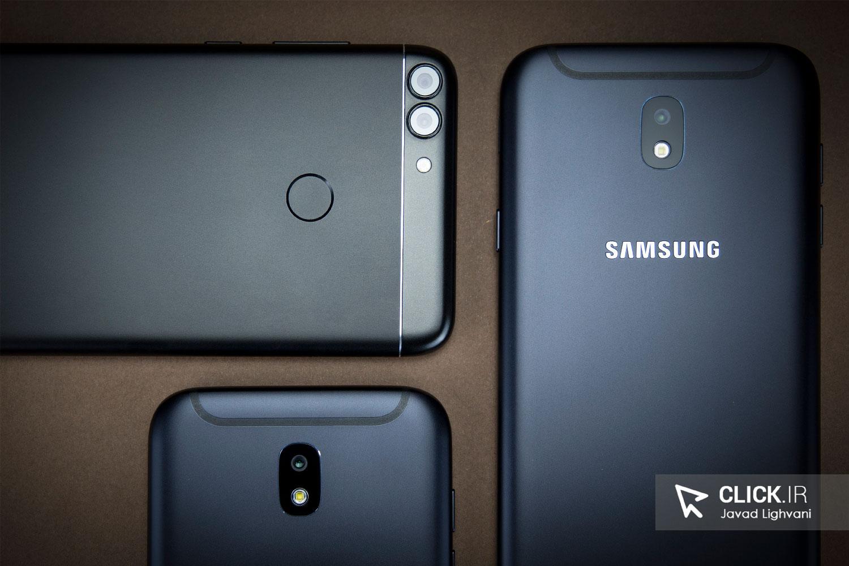 مقایسه گوشی هواوی P Smart با گلکسی J7 Pro و J5 Pro