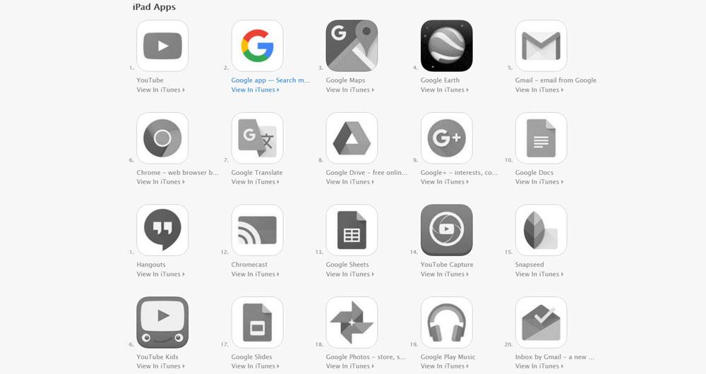 نسخه آی او اس اپلیکیشن گوگل