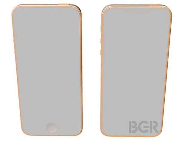 تصاویر شماتیک گوشی آیفون SE 2 به نمایشگر بدون حاشیه و برش خورده اشاره دارد