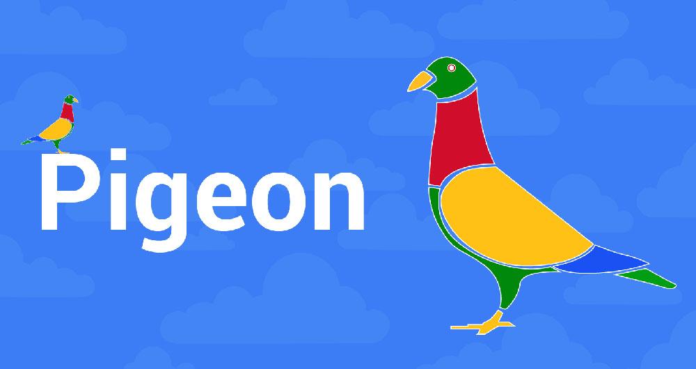 اپلیکیشن Pigeon گوگل
