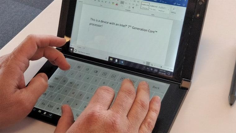 لپ تاپ اینتل با دو صفحه نمایش