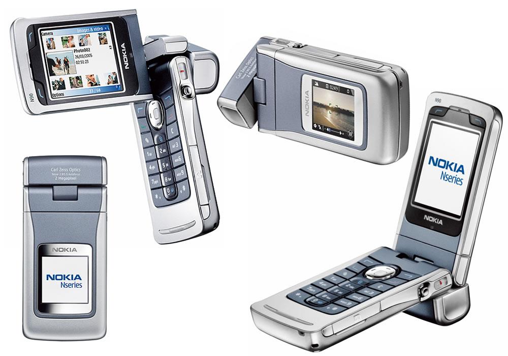 قابلیت چرخشی Nokia N90