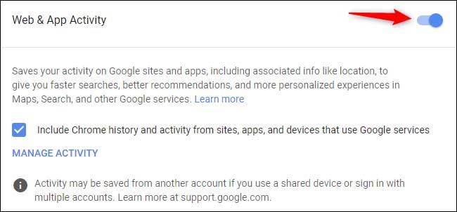 حذف تاریخچه جستجو گوگل