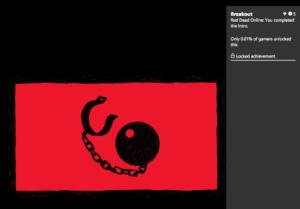 تصویر اولین اچیومنت بازی Red Dead Online