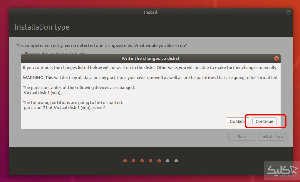 نصب سیستم عامل اوبونتو