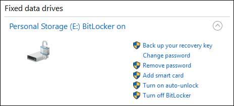 قابلیت رمزگذاری BitLocker