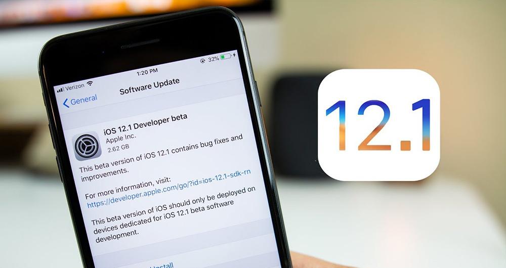 آپدیت iOS 12.1