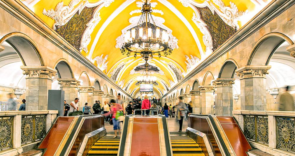زیباترین ایستگاه های مترو در مسکو