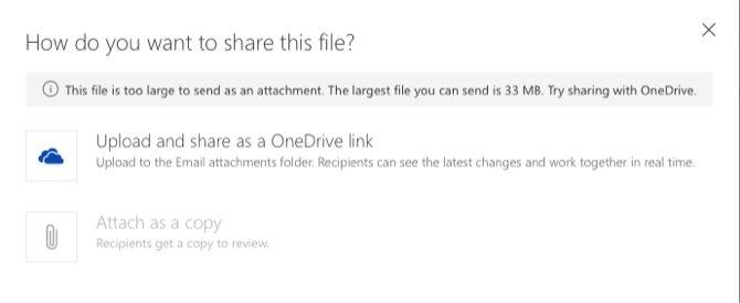 ضمیمه فایل های بزرگ به ایمیل