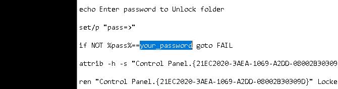 گذاشتن رمز روی فولدرها