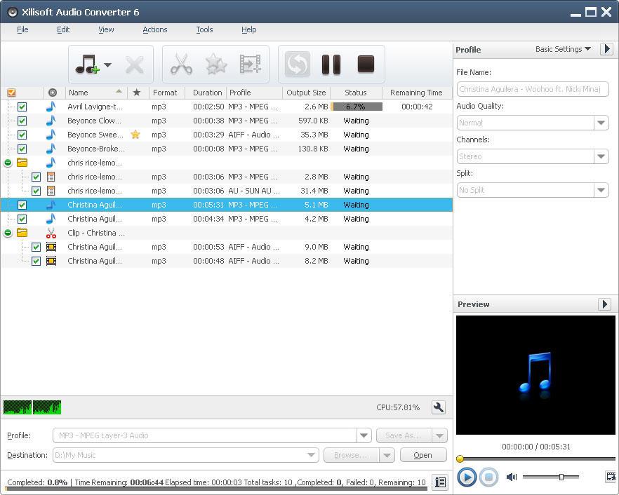 تبدیل فرمت فایل های صوتی