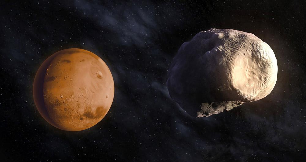 مدارگرد اودیسه تصاویر جدیدی را از قمر فوبوس به ثبت...