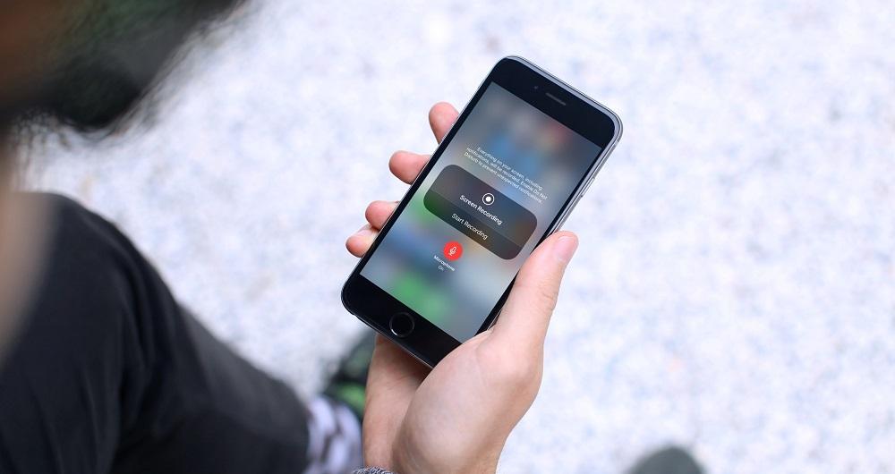 ضبط فیلم از صفحه نمایش آیفون