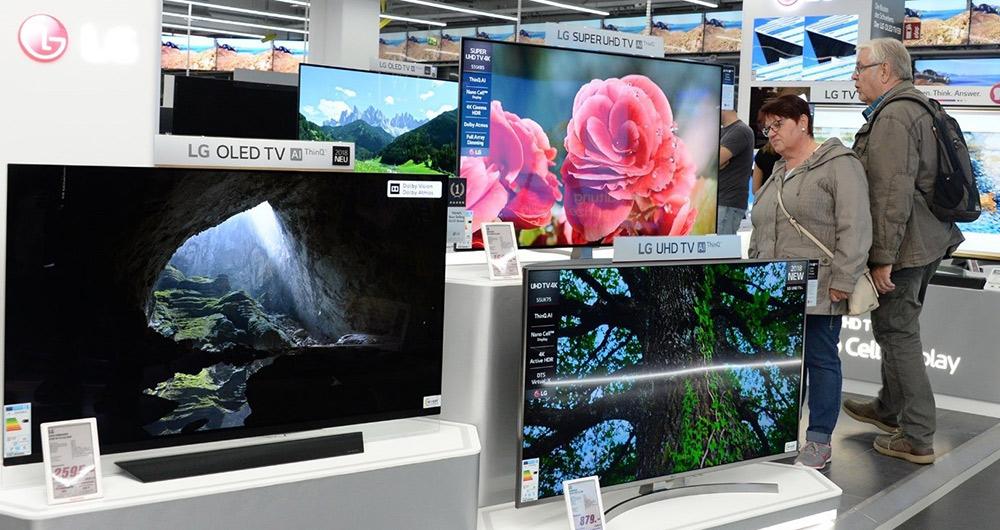 سهم تلویزیون های OLED ال جی بیش از پیش کاهش پیدا می کند