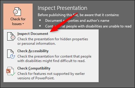 کاهش حجم فایل پاورپوینت حذف اطلاعات شخصی