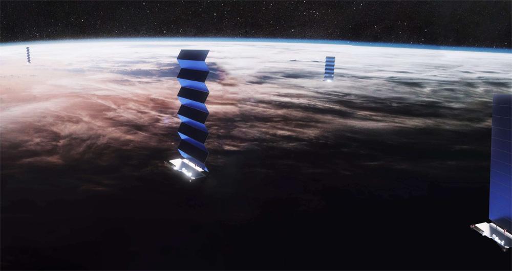 ماهواره های استارلینک عملیات خود را در فضا آغاز کردند