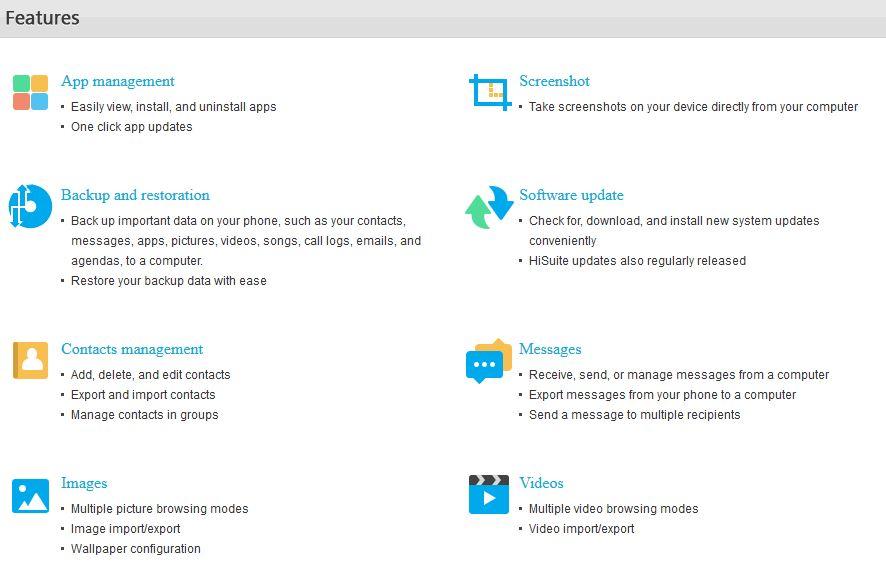 برنامه HiSuite