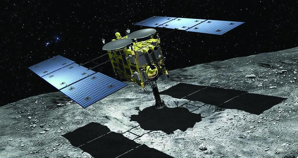 کاوشگر هایابوسا ۲ از سطح زیرین سیارک Ryugu نمونه برداری کرد