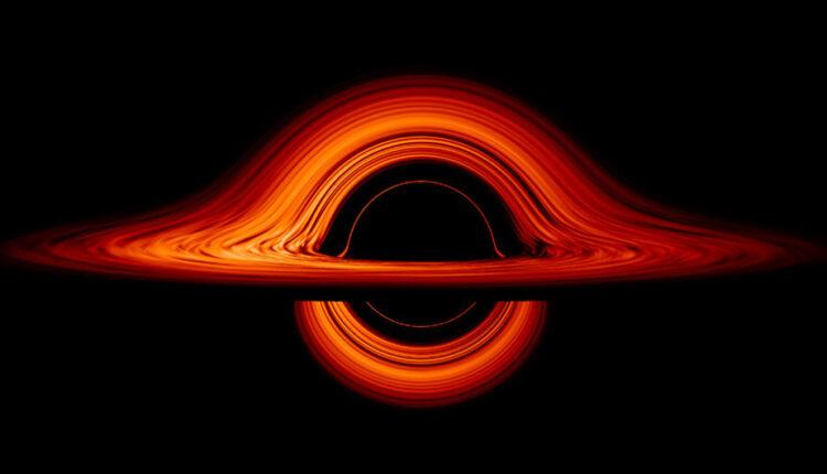 جاذبه سیاه چاله موجب انحراف نور می شود