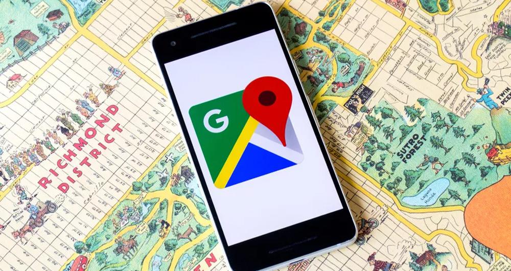 استفاده از گوگل مپ