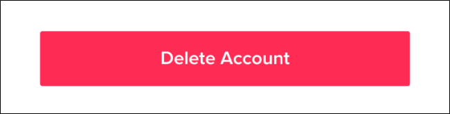delete account TikTok