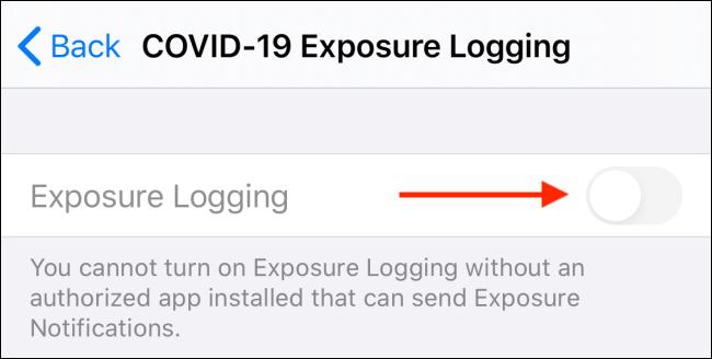 قابلیت COVID-19 Exposure